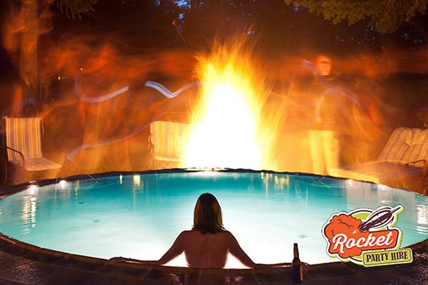 Jacuzzi and Bonfire Party