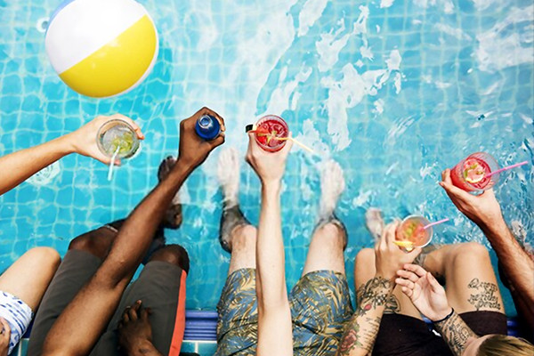 Pool and Cocktail Party